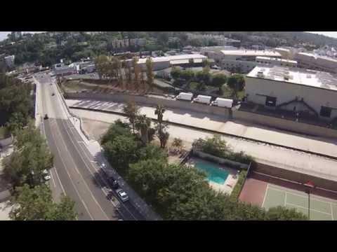 DJI Phantom 2 fly over  STUDIO CITY/ CBS Studios  iDroneYourHome