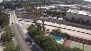 DJI Phantom 2 fly over  STUDIO CITY/ CBS Studios  iDroneYourHome