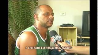 Duas pessoas são baleadas durante assalto em praça de Conceição do Rio Verde