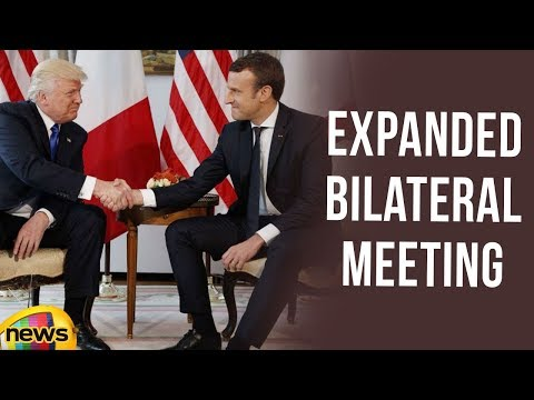President Trump has an Expanded Bilateral Meeting with the President Macron | Mango News