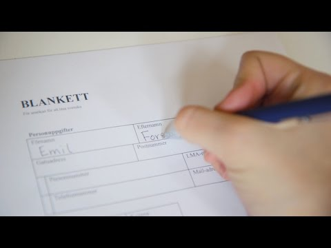 Tiếng Thụy Điển bài 27: Điền vào form