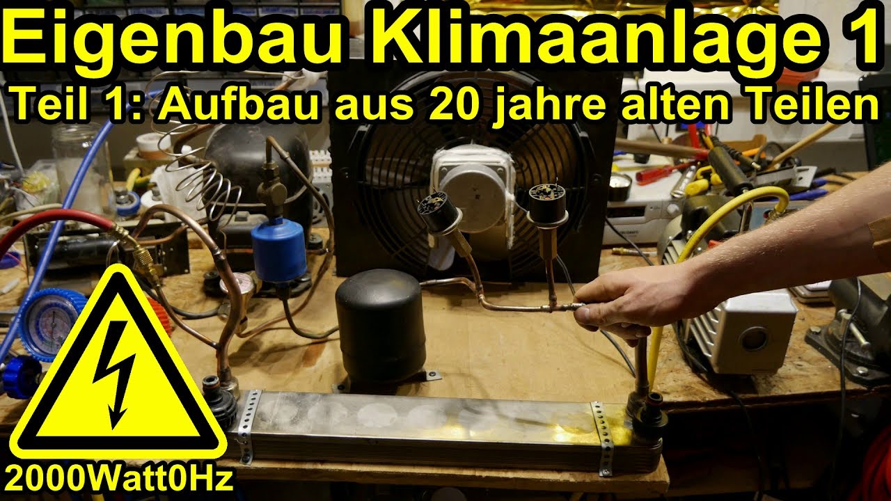 klimaanlage selber bauen teil 1 youtube. Black Bedroom Furniture Sets. Home Design Ideas