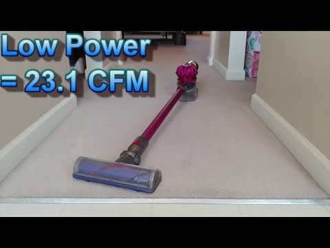 Dyson V7 Motorhead Whole House Carpet Cleaning With Weighed Results  **LOW POWER**