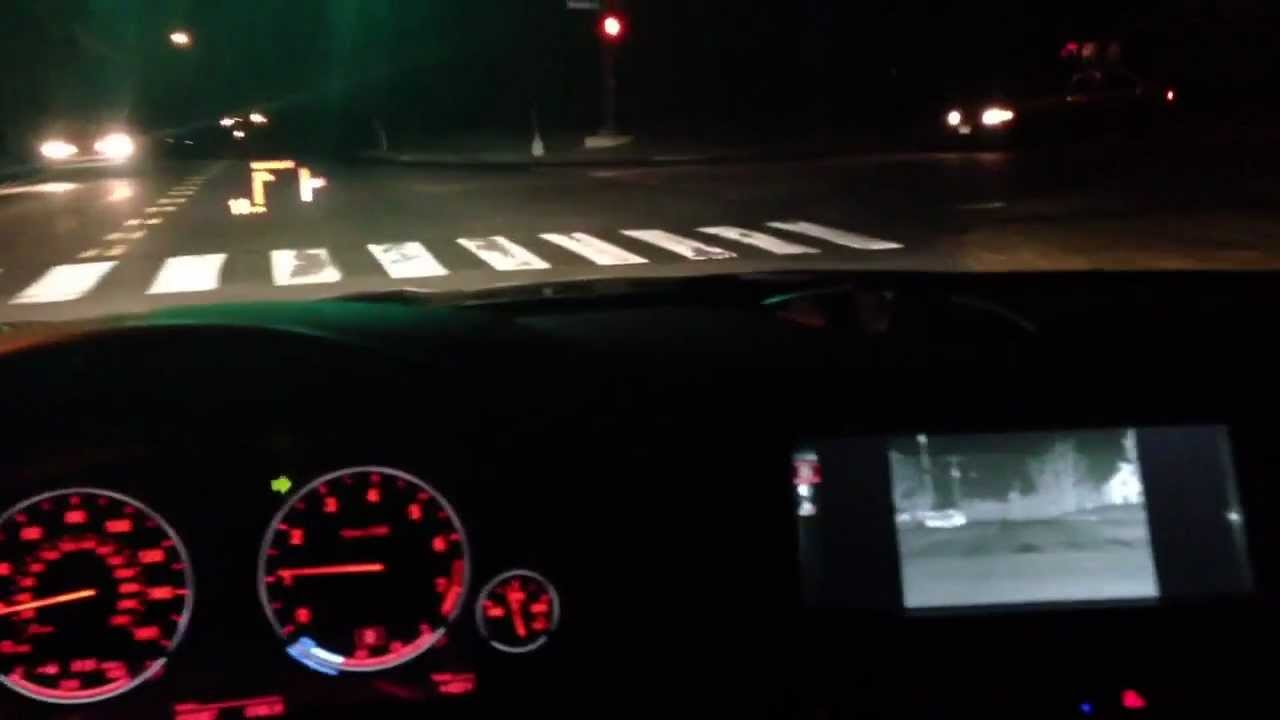 Bmw Night Vision And Heads Up Display Youtube