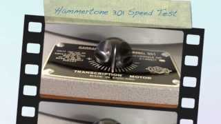 Garrard 301 Turntable Hammertone Gray Silver Grease Bearing SPEED TEST