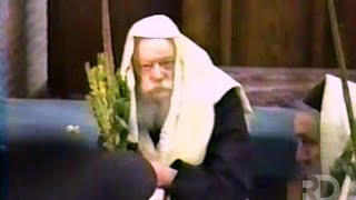 New Footage of Hoshana Rabba 5752 (1991) - Shacharis