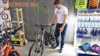 Электровелосипед MTB двухподвес Downhill Центральный мотор Bafang Велопарк 2019 Обзор Voltreco.ru