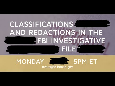 Classifications and Redactions in FBI's Investigative File - Part 1