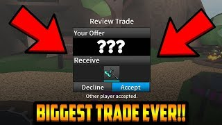 TRADING FOR THE RAREST KNIFE IN THE ENTIRE GAME... (ROBLOX ASSASSIN)