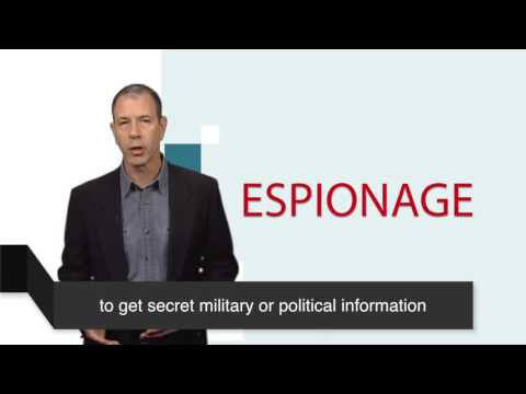 News Words - Espionage