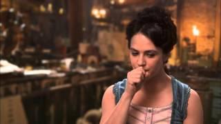 """Victor Frankenstein: Jessica Brown Findlay """"Lorelei"""" Behind The Scenes Movie Interview"""
