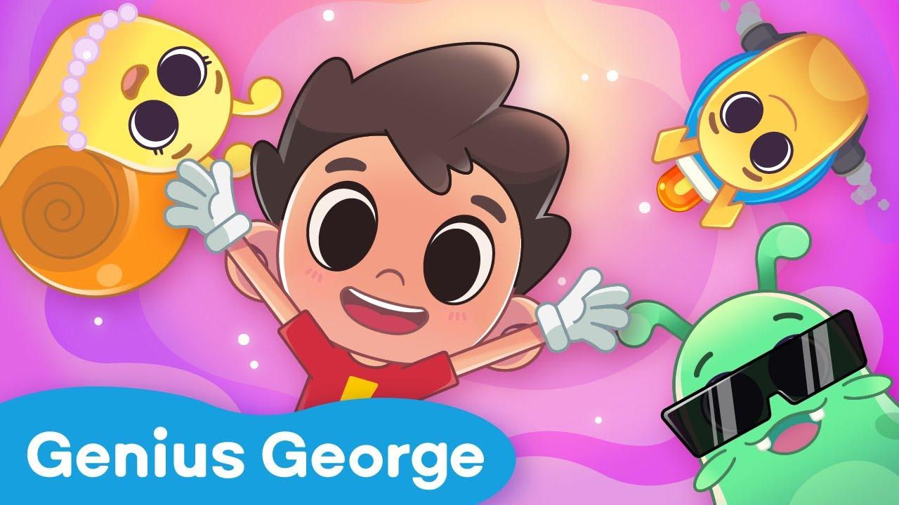 GeniusGeorge Preview B 📺- Snail & Slug who runs faster? | Science Fun | KidsCartoon | Yateland