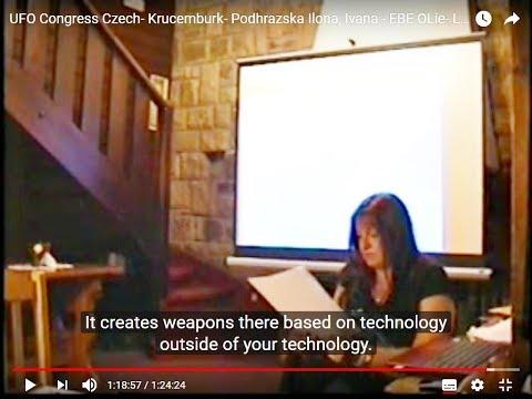 EBE OLie messages- UFO Congress Czech 2018 CC.- ILona Podhrazska