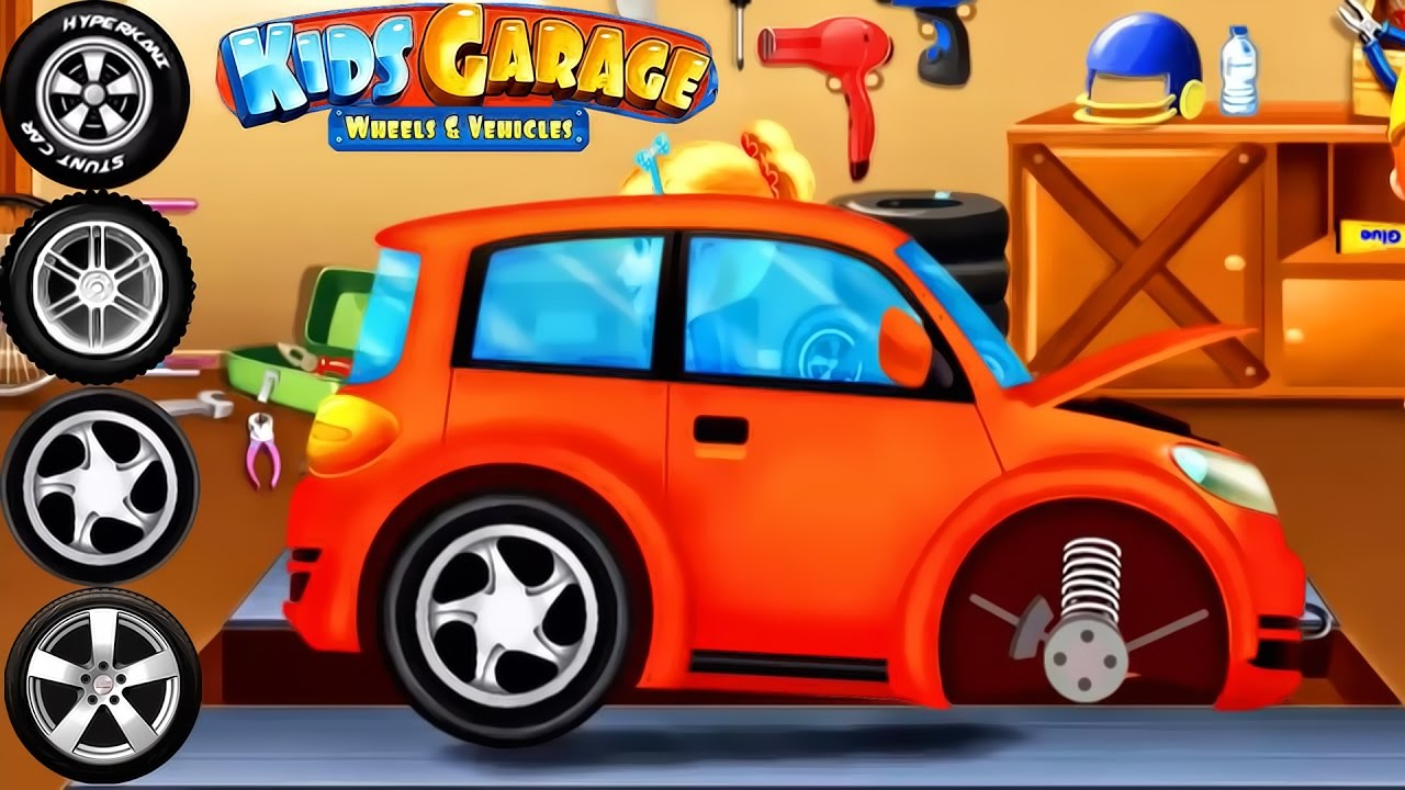 cars factory car driving for kids animation cartoons for children kids garage wheels
