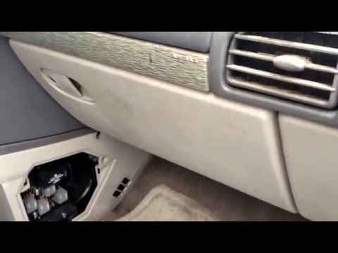 2002 Buick Rendezvous Fuse Box Location YouTube