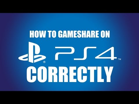 How To Gameshare on PS4 Correctly |2015|