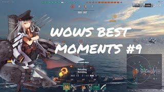 World of Warships Best Moments #9 Battlecruiser Moskva Edition