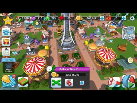 CRAZY HACK/GLITCH IN ROLLAR COASTER TYCOON TOUCH (INSANE!) - YouTube