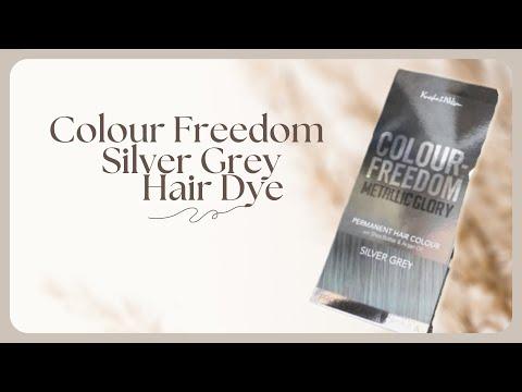 Colour Freedom Silver Grey Hair Dye ♡ Youtube