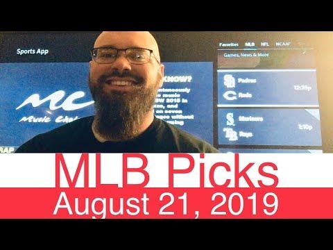 MLB Picks (8-21-19) | Part 1 of 2 | Major League Baseball Expert Predictions | Vegas Lines & Odds