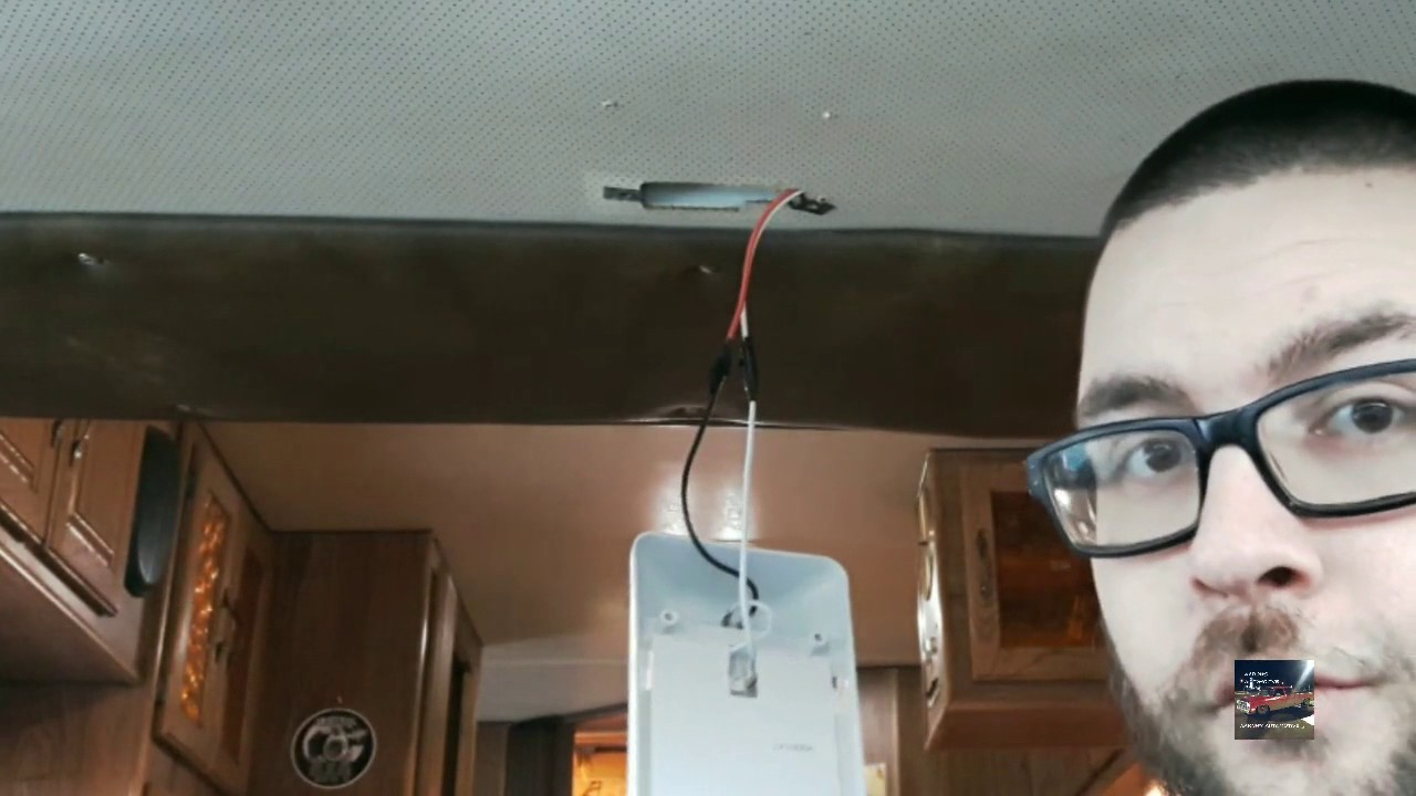 How To Replace An Rv Light Fixture Youtube Wiring A Modern Fitting