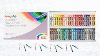 Como Dibujar Fácil  con Óleo Pastel Pentel un Bonito Paisaje Japones ^^