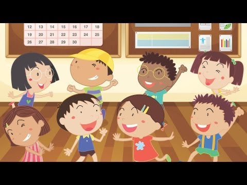 Head Shoulders Knees & Toes, Spanish version | Kids' Songs