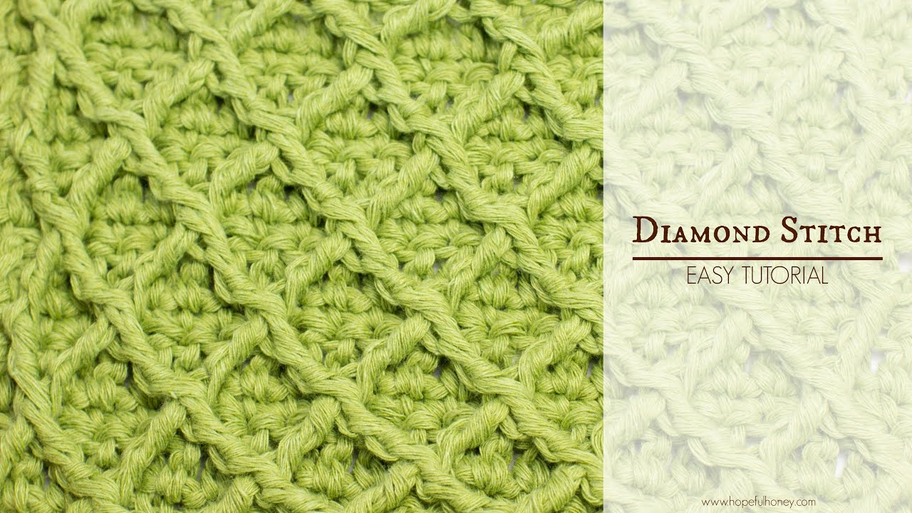 How to crochet the diamond stitch easy tutorial by hopeful honey how to crochet the diamond stitch easy tutorial by hopeful honey dt1010fo