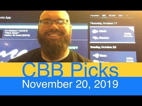 College Basketball Picks (11-20-19) | MBB NCAAB Predictions | NCAA Men's B-ball CBK | CBB NCAAM Odds