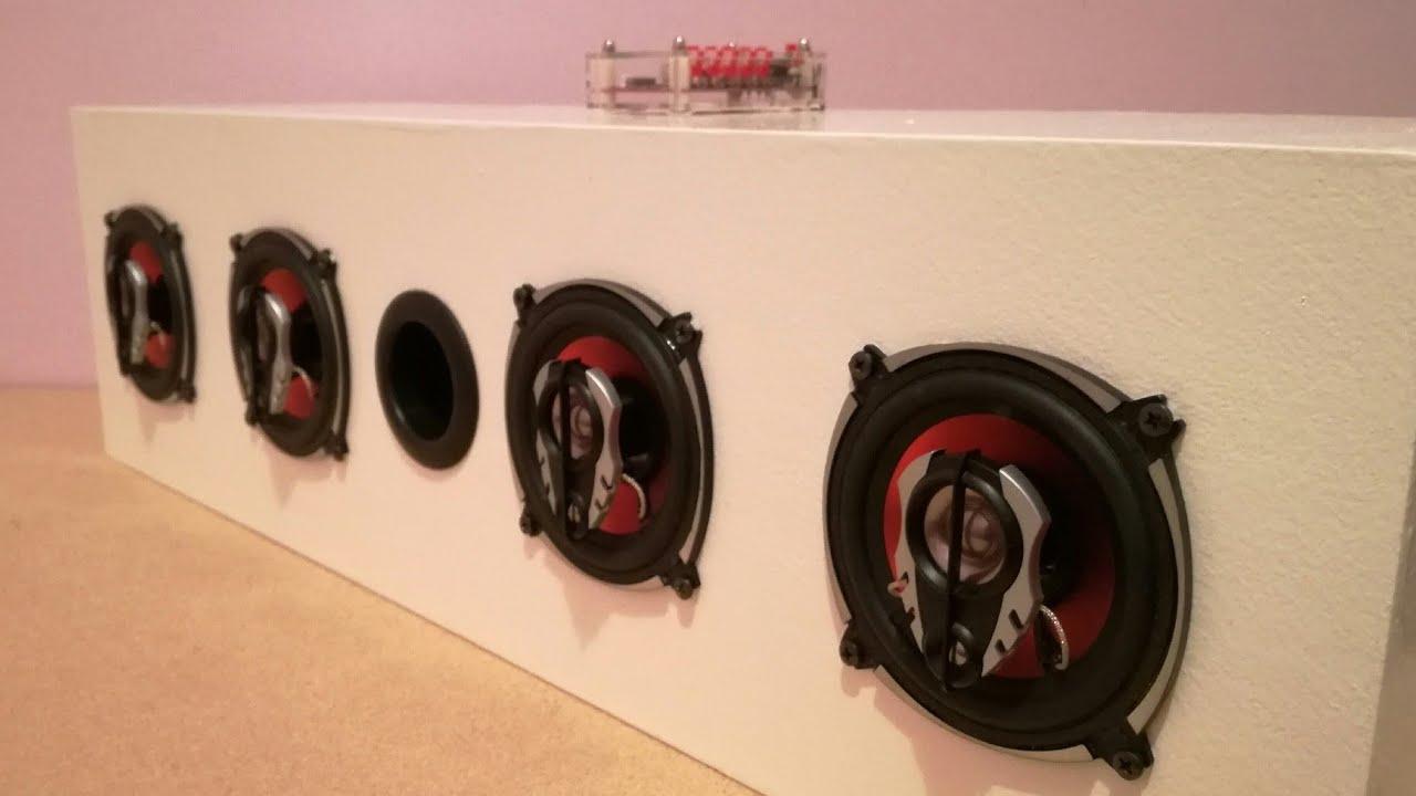 How to Make Boombox Bluetooth Speaker - DIY Soundbar