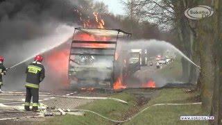 NA SYGNALE: Pożar tira w Popławcach