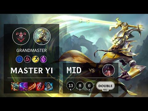 Master Yi Mid Vs Akali - EUW Grandmaster Patch 11.13