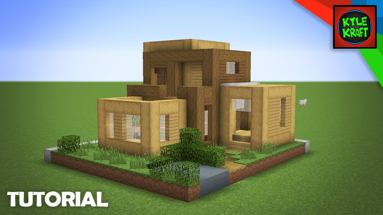 Minecraft Modern Wooden Survival House Tutorial Block By Block