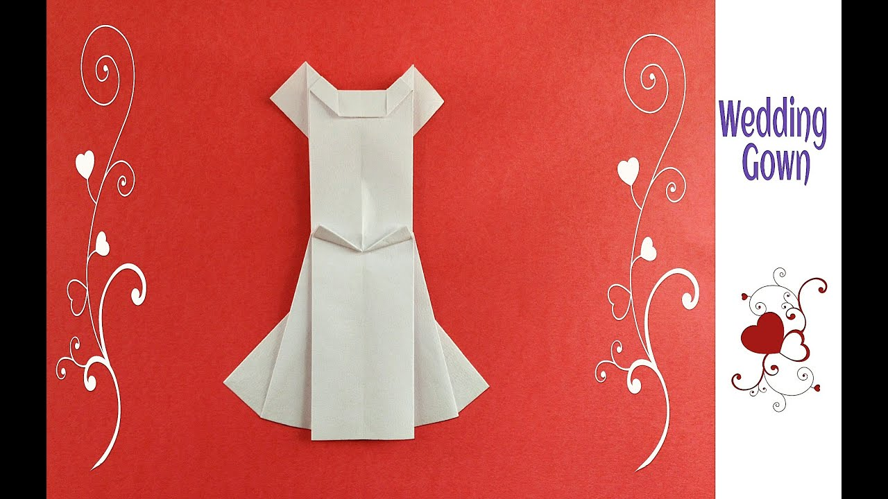 origami paper dress quotwedding gownquot youtube