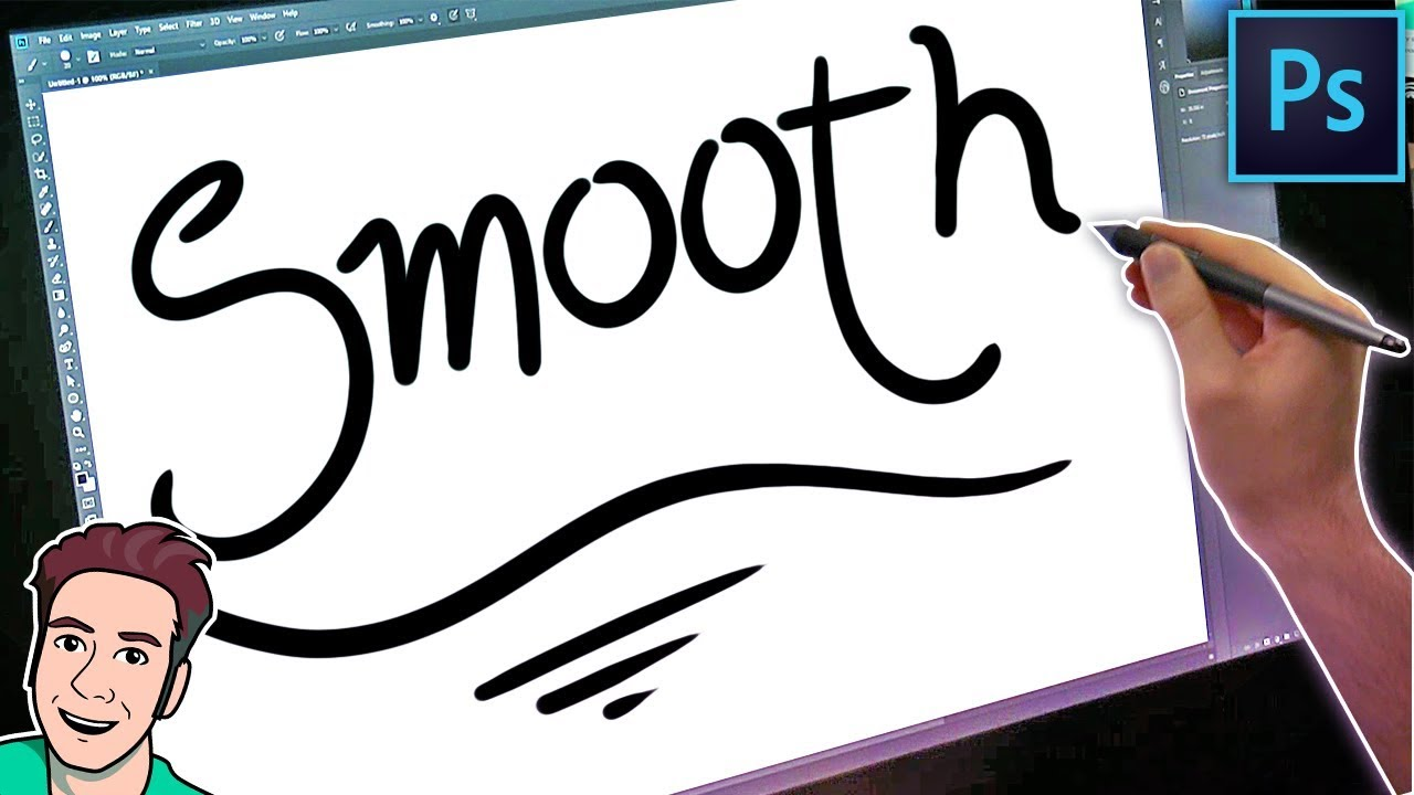 Drawing Smooth Lines Xbox : How to use the stabilizer in photoshop for smooth lines