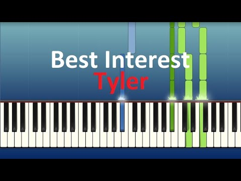 Best Interest – Tyler – Piano tutorial (Synthesia)