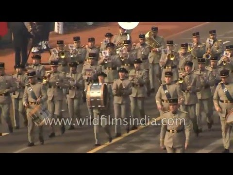 French Army soldiers march in India, at Republic Day 2016!
