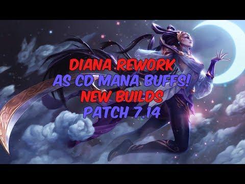 Diana vs Rammus Jungle - Diana Rework - Diamond 5 Promos [NA] - Patch 7.14