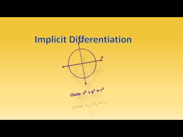 Implicit Differentiation-Maths-Class 12-ISC-CBSE
