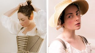 Getting dressed in the 18th century - working woman