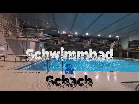 Schach Aktion im Schwimmbad