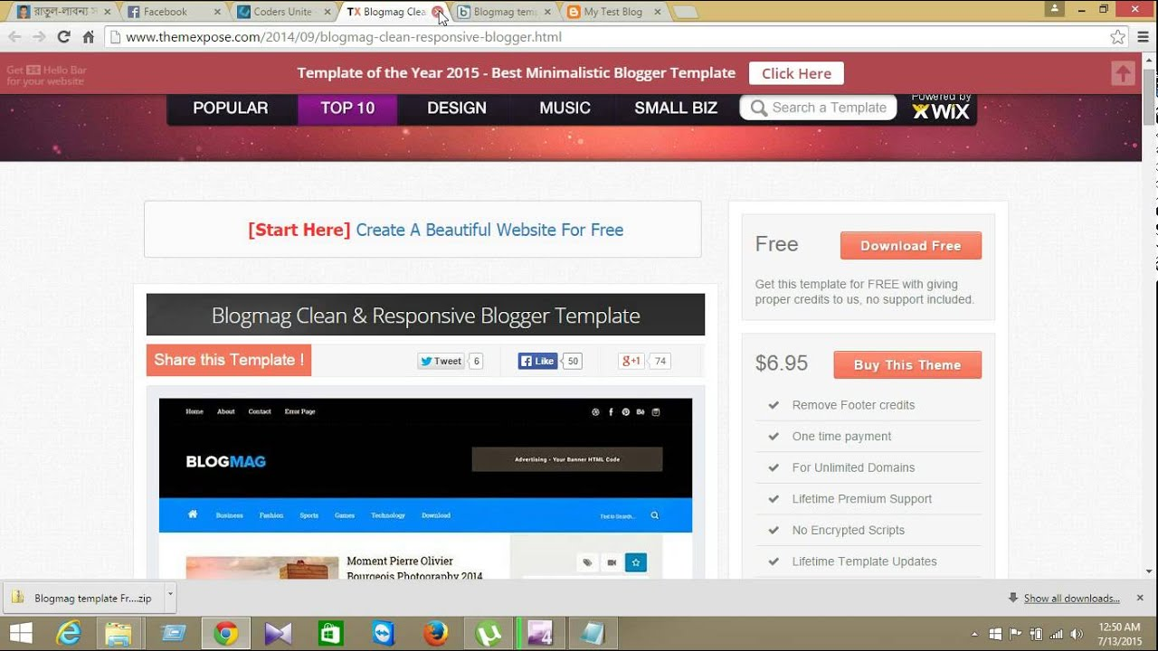 How to Add Self Design Template on Blogger - YouTube