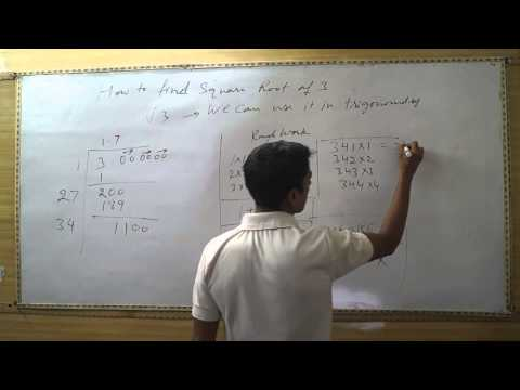 How To Find Square Root Of 3