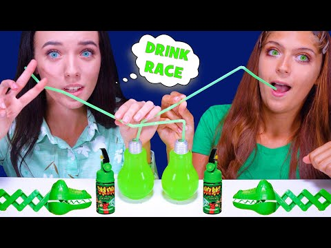 ASMR CANDY RACE WITH GATOR CHOMP (GUMMY EYEBALLS, WAX BOTTLES, MARSHMALLOW, CHIPS) from YouTube · Duration:  11 minutes 44 seconds
