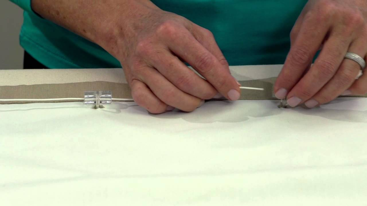 Good Roman Shade Rings Part - 2: Roman Shade Ring Lock Install R1 HD 720p