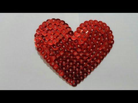 Como Hacer Corazon Con Lentejuelas Homearttv Por Juan Gonzalo Angel Youtube
