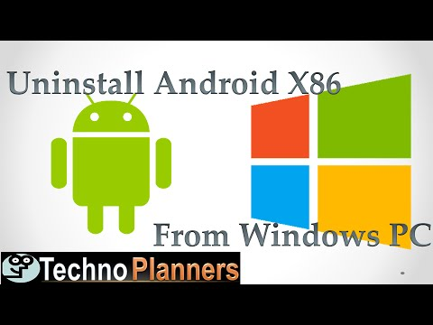 How To Uninstall Android X86 from Windows Pc and notebook