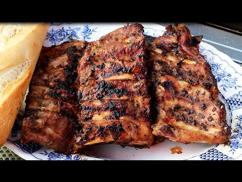 Vorgegarte Spareribs Gasgrill : Spareribs mit süß scharfer marinade rezept tegut