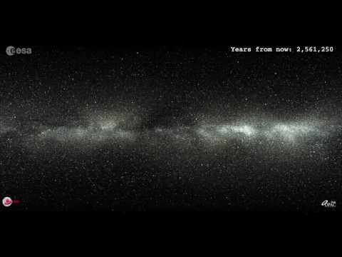 ESA / GAIA : The motion of two million stars - 5 Million years into the future
