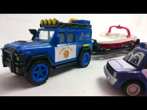 Мультфильмы про машинки: полицейская машина, эвакуатор и команда спасателей. Видео для детей